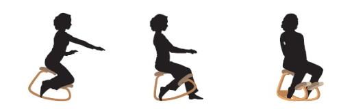 diverse posture su una sedia ergonomica