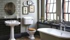 bagno vintage pareti menta